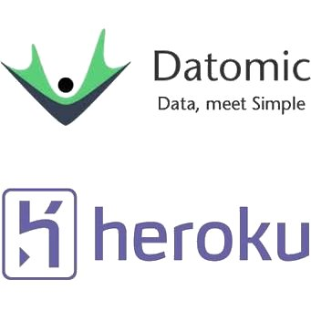 Datomic and Heroku Logos